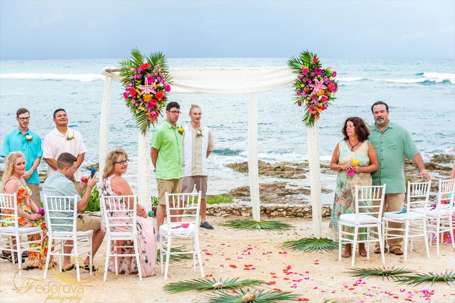 свадьба на пляже акумаль мексика