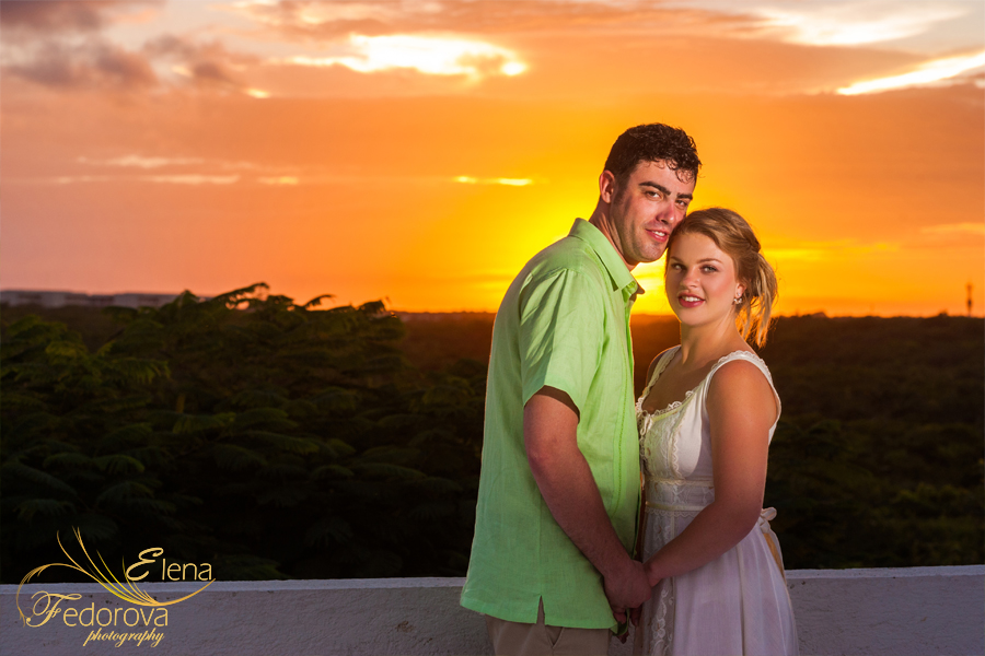 свадьба закат в мексике