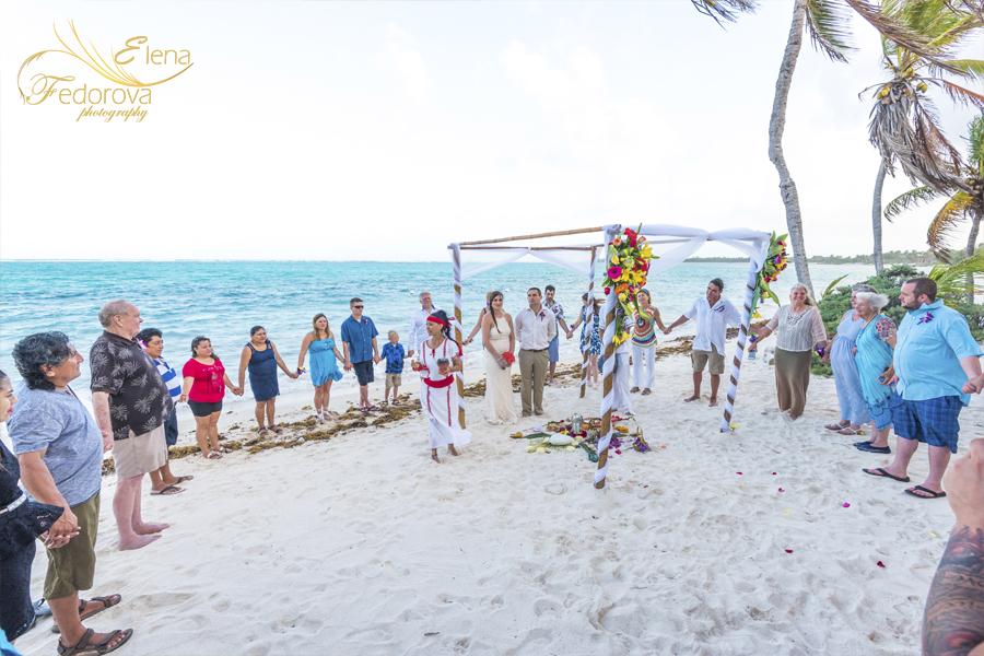 свадебная духовная церемония пляж мексика