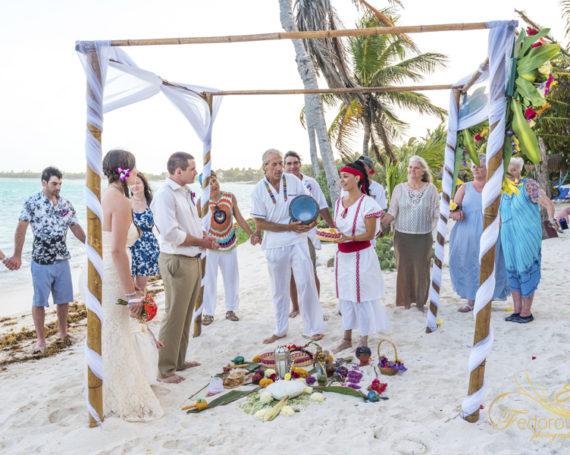 Майянская свадебная церемония в Мексике