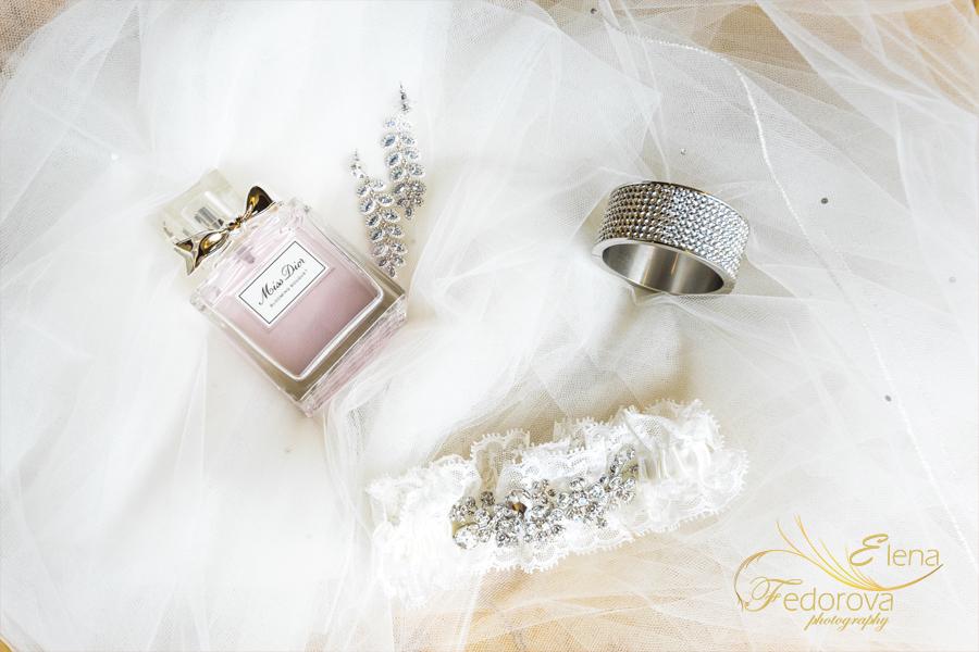 свадебные детали невесты