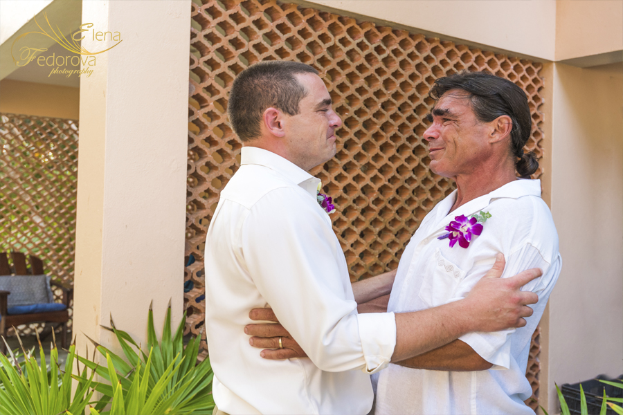 жених с отцом фото