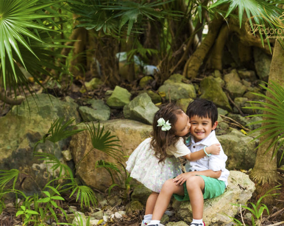 Пляжная семейная фотосессия в Мексике