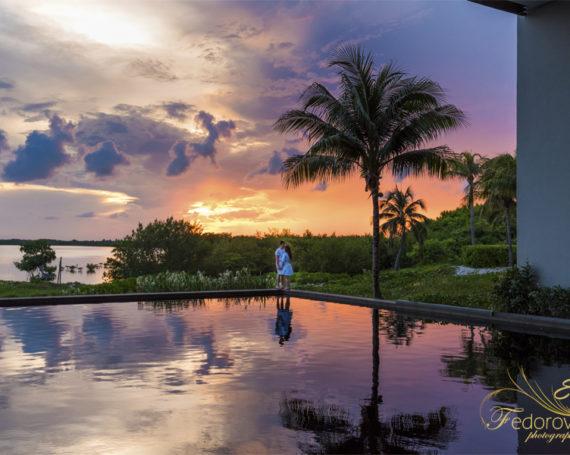 Фотосессия на закате в Канкуне Мексика