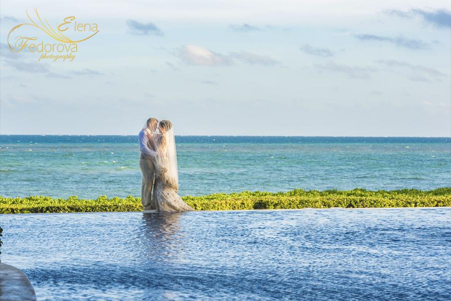 свадьба бассейн фото