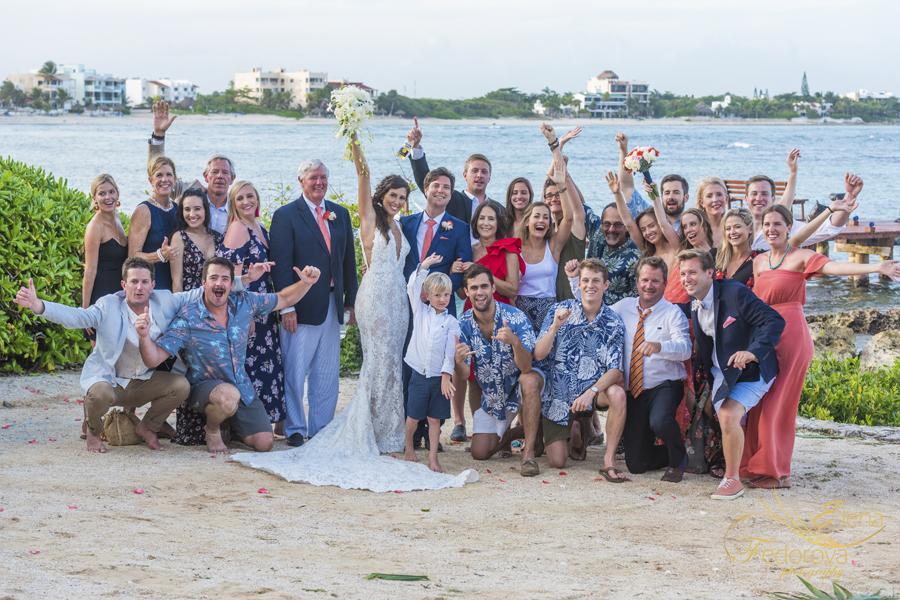 свадьба на вилле в мексике груповое фото