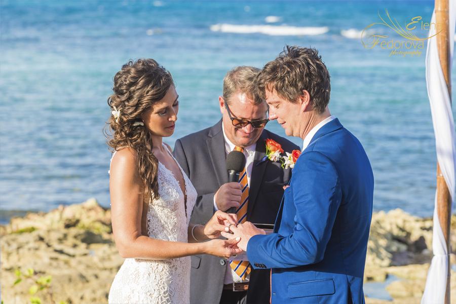 свадьба на вилле в мексике обмен кольцами