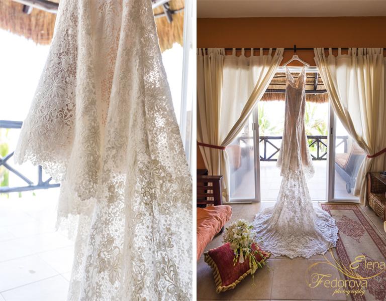 свадьба на вилле в мексике платье