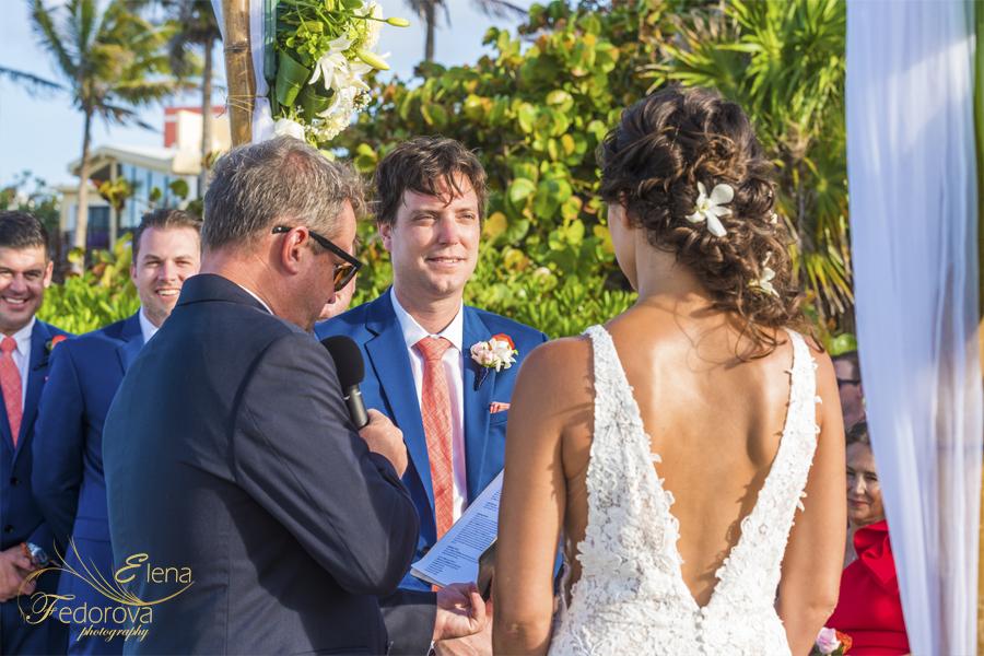 свадьба на вилле в мексике пляж церемония