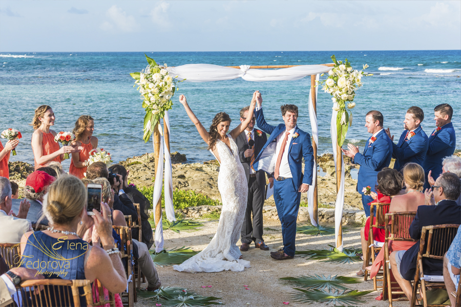 свадьба на вилле в мексике церемония