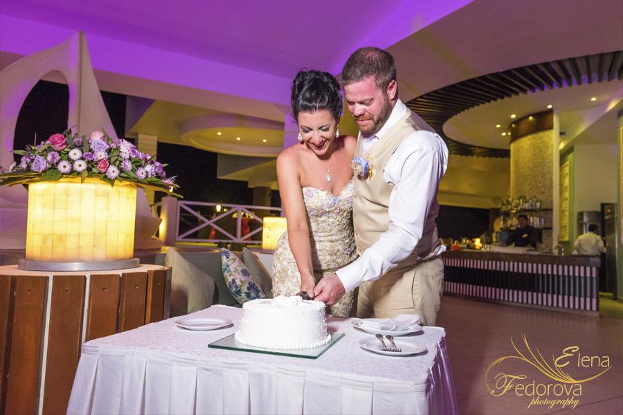 свадьба в мексике на курорте торт