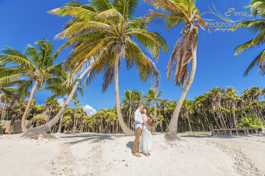 тулум мексика свадебное фото