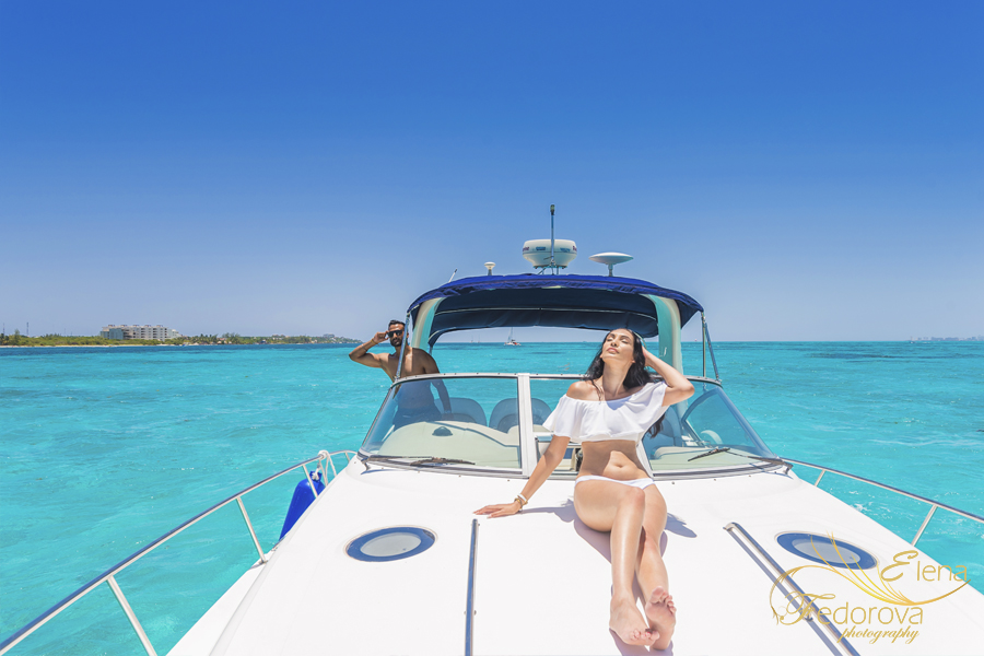 канкун фотосессия на яхте