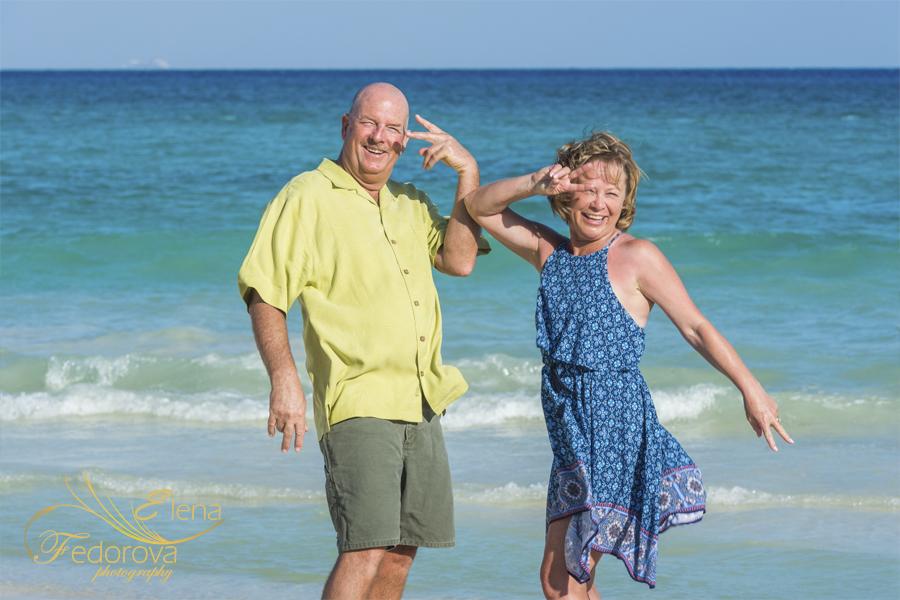 веселая фотосессия на пляже